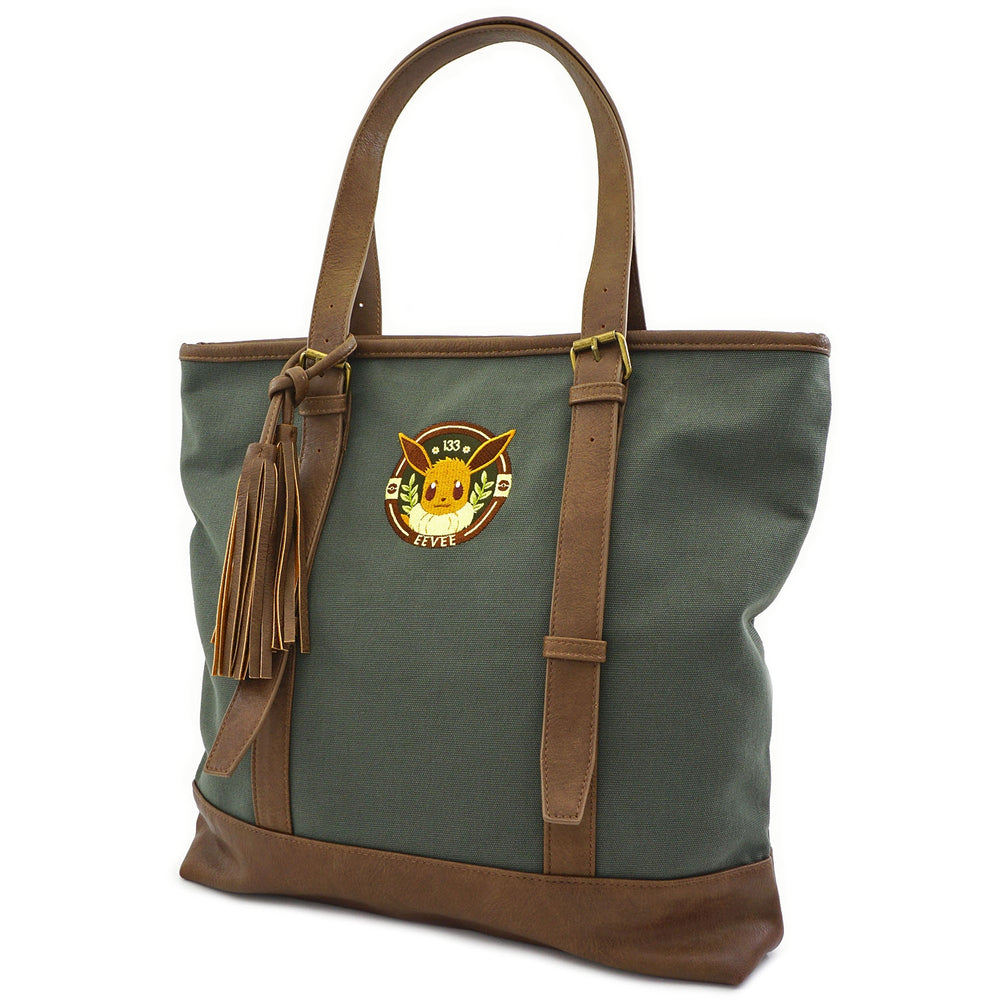 LOUNGEFLY X POKEMON EEVEE CANVAS TOTE BAG-zoom