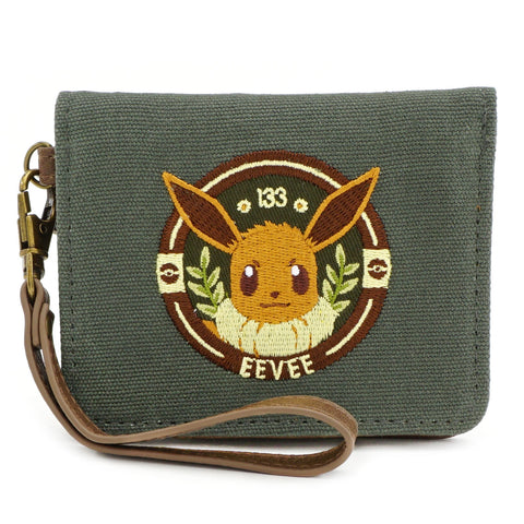 LOUNGEFLY X POKEMON EEVEE CANVAS WALLET WITH WRISTLET