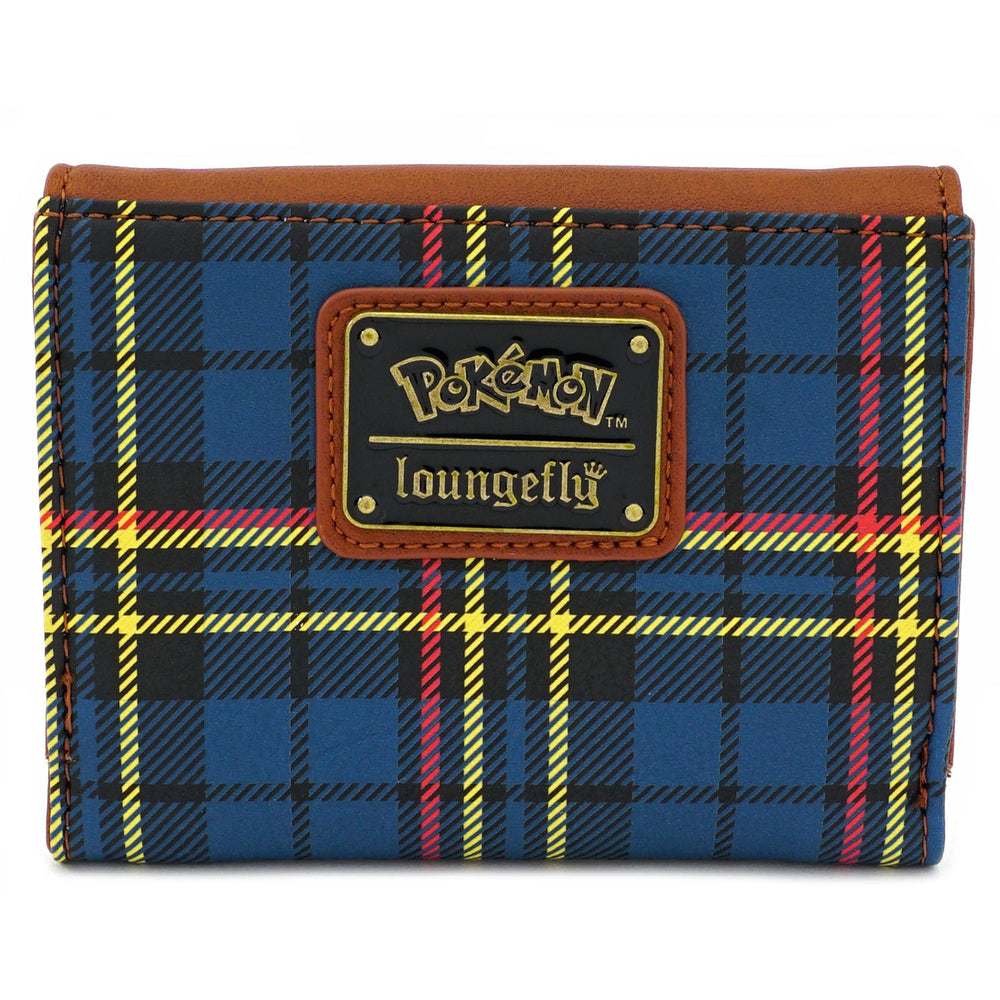 LOUNGEFLY X POKEMON PIKACHU PLAID BI-FOLD WALLET-zoom