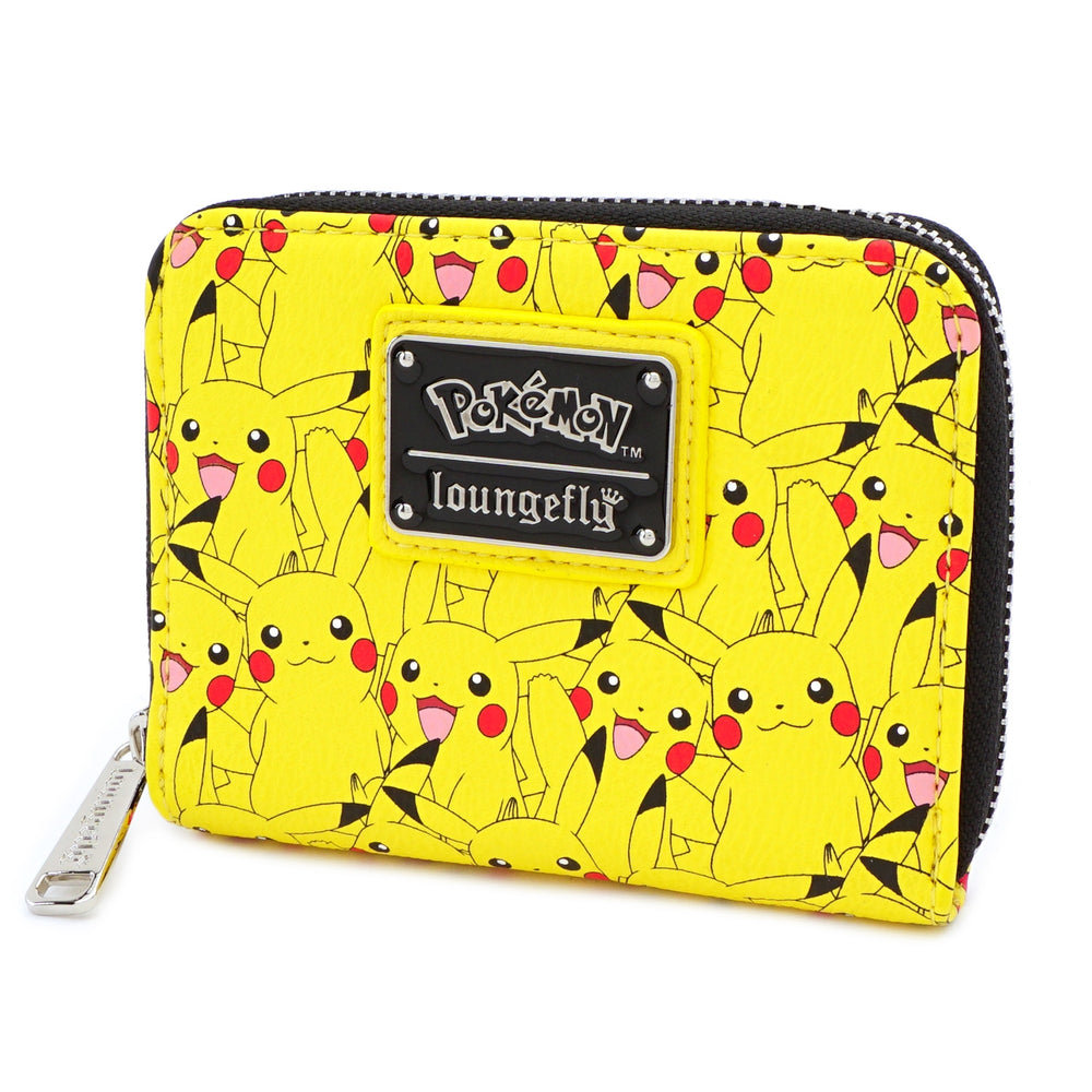 LOUNGEFLY X POKEMON PIKACHU AOP ZIP AROUND WALLET-zoom