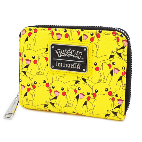LOUNGEFLY X POKEMON PIKACHU AOP ZIP AROUND WALLET