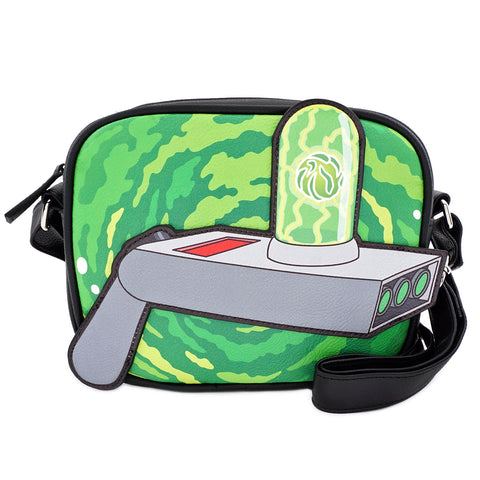 RICK AND MORTY PORTAL GUN CROSS BODY BAG