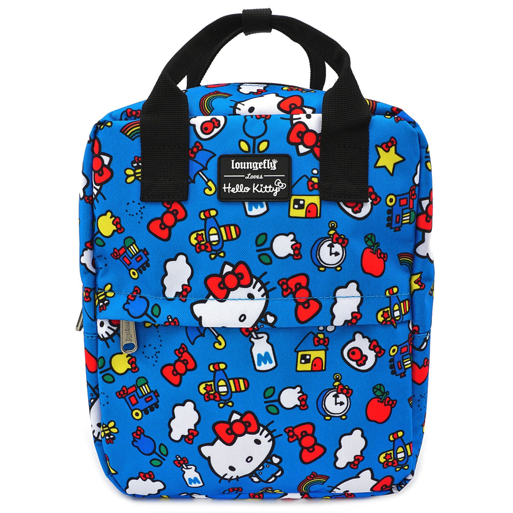LOUNGEFLY X HELLO KITTY 45TH ANNIVERSARY AOP PRINTED NYLON SQUARE MINI BACKPACK-zoom