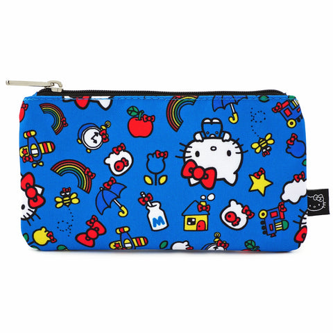 LOUNGEFLY X HELLO KITTY 45TH ANNIVERSARY AOP NYLON POUCH