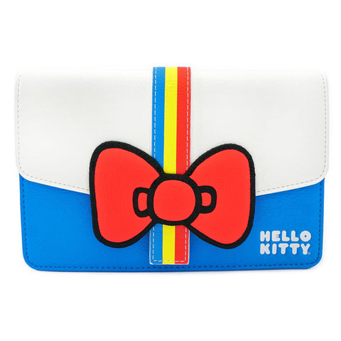LOUNGEFLY X HELLO KITTY 45TH ANNIVERSARY STRIPE BOW WAIST BAG