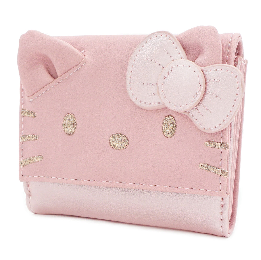 Loungefly x Hello Kitty Metallic Pink Wallet-zoom