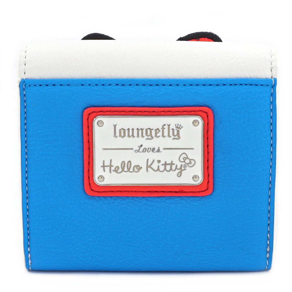 LOUNGEFLY X HELLO KITTY 45TH ANNIVERSARY STRIPE BOW BI-FOLD WALLET-zoom