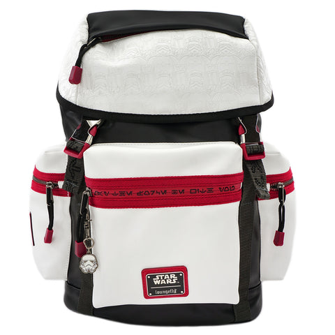 LOUNGEFLY X STAR WARS WHITE TROOPER DEBOSSED BACKPACK