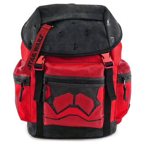 LOUNGEFLY X STAR WARS RED TROOPER BUILT UP BACKPACK CONVENTION EXCLUSIVE