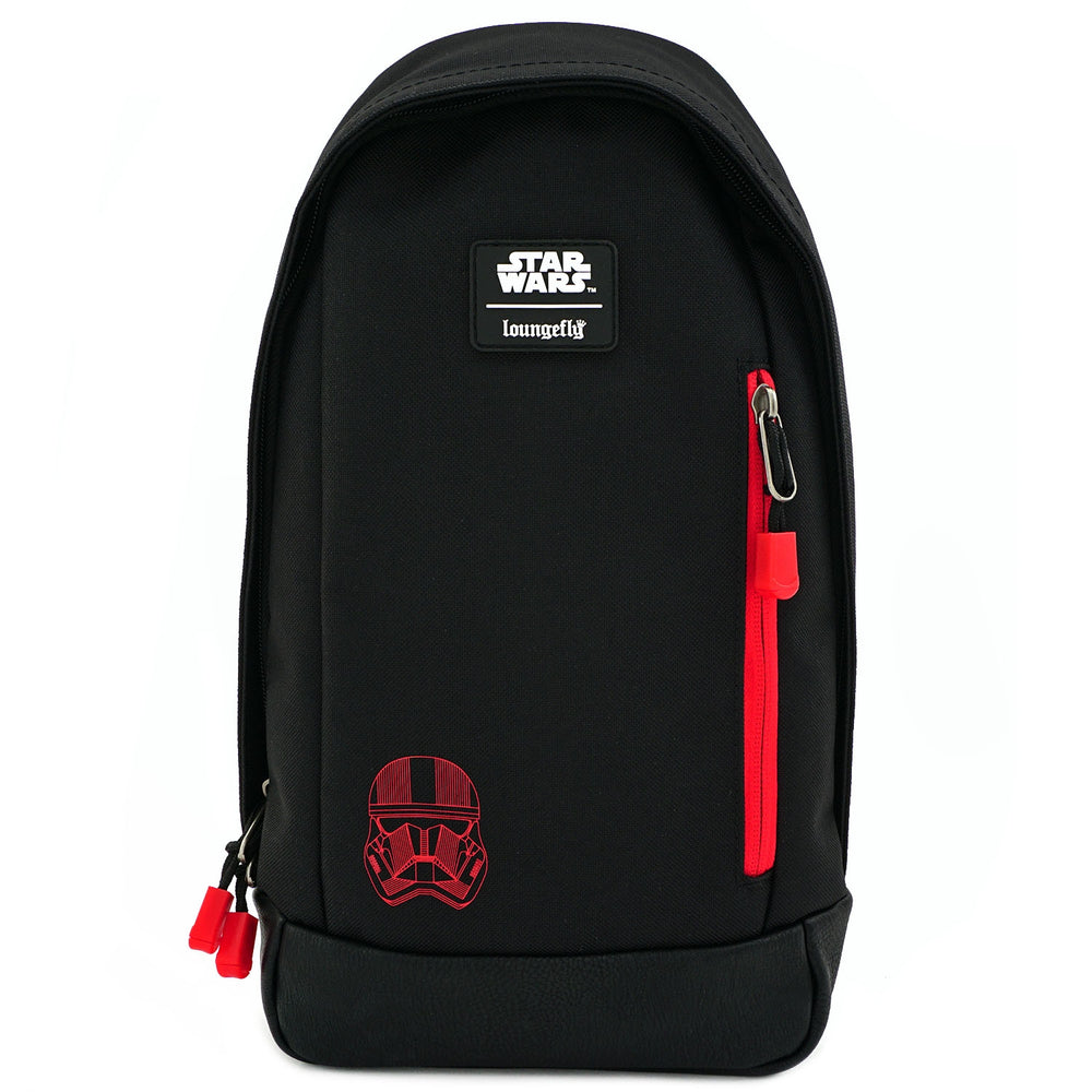 LOUNGEFLY X STAR WARS RED SITH TROOPER NYLON SLING BAG-zoom