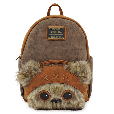 LOUNGEFLY X STAR WARS WICKET FAUX FUR MINI BACKPACK