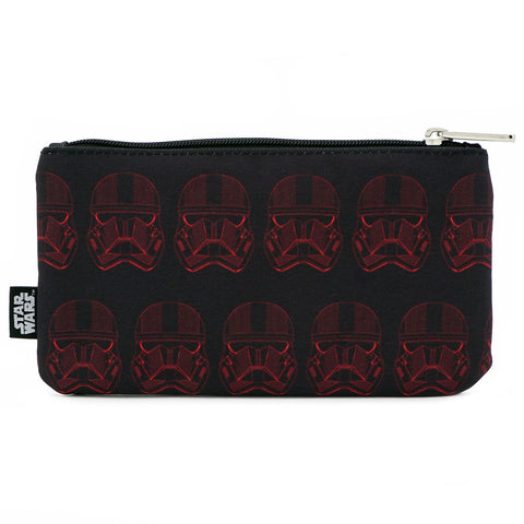 LOUNGEFLY X STAR WARS RED SITH TROOPER NYLON POUCH
