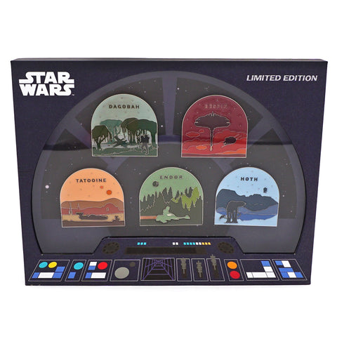 LOUNGEFLY X STAR WARS PLANETS LIMITED EDITION PIN COLLECTORS SET