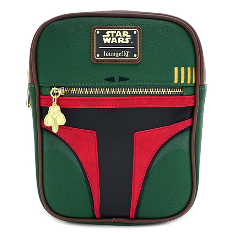 LOUNGEFLY X STAR WARS BOBA FETT PASSPORT CROSS BODY BAG