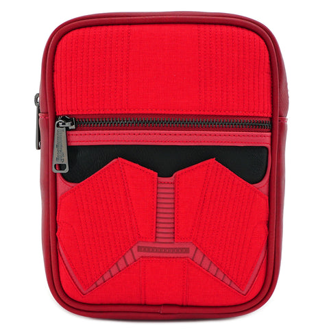 LOUNGEFLY X STAR WARS RED SITH TROOPER CROSSBODY BAG