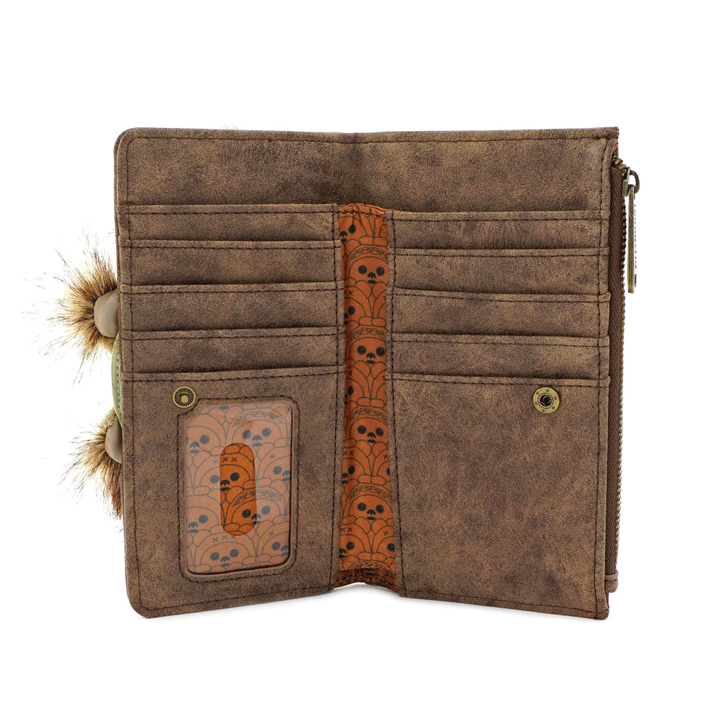 LOUNGEFLY X STAR WARS EWOK TRIO FLAP WALLET-zoom