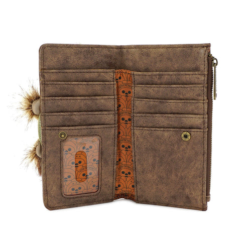LOUNGEFLY X STAR WARS EWOK TRIO FLAP WALLET