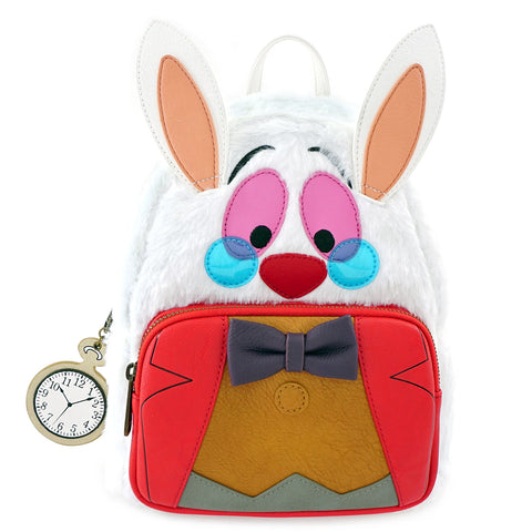 LOUNGEFLY X DISNEY ALICE IN WONDERLAND WHITE RABBIT COSPLAY MINI BACKPACK