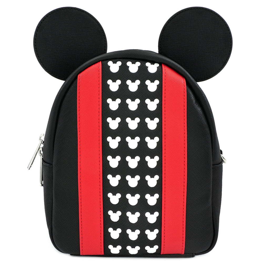 Loungefly x Mickey Black/Red Convertible Backpack-zoom