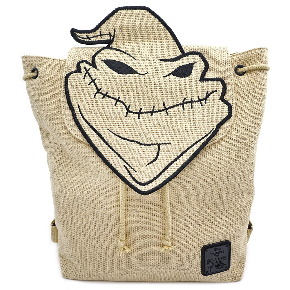LOUNGEFLY X NIGHTMARE BEFORE CHRISTMAS OOGIE BOOGIE BURLAP BACKPACK-zoom