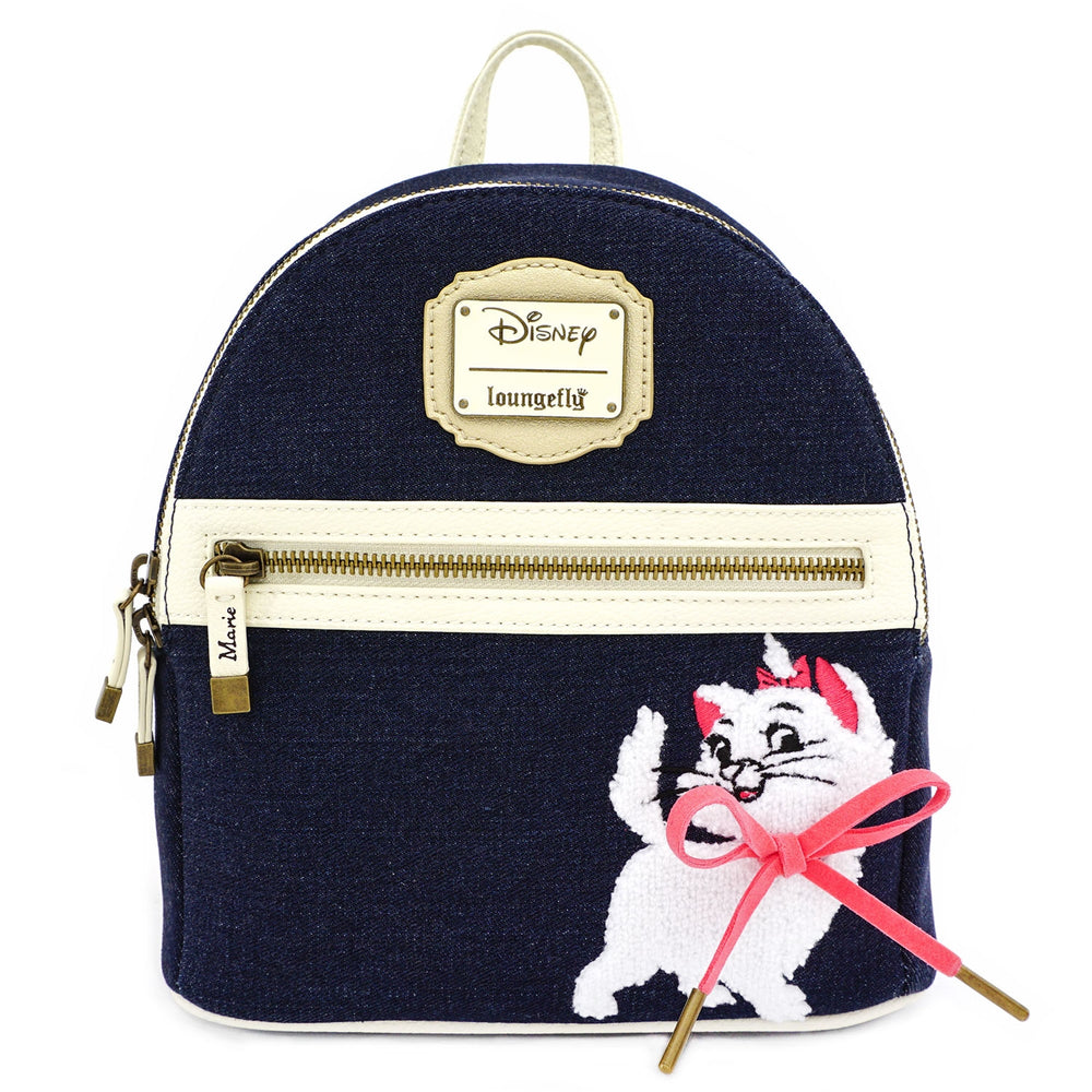 Disney Marie Denim Mini Backpack-zoom