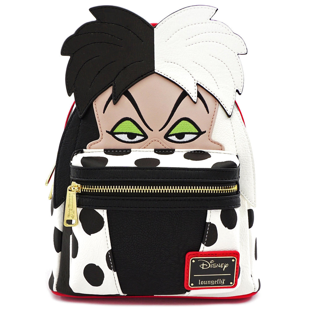 LOUNGEFLY X DISNEY CRUELLA DE VIL COSPLAY MINI PU BACKPACK-zoom