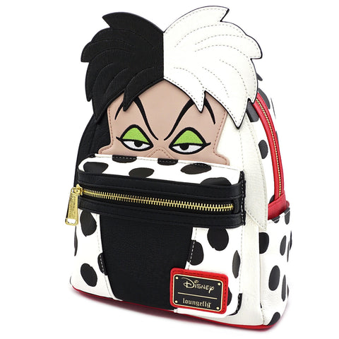 LOUNGEFLY X DISNEY CRUELLA DE VIL COSPLAY MINI PU BACKPACK