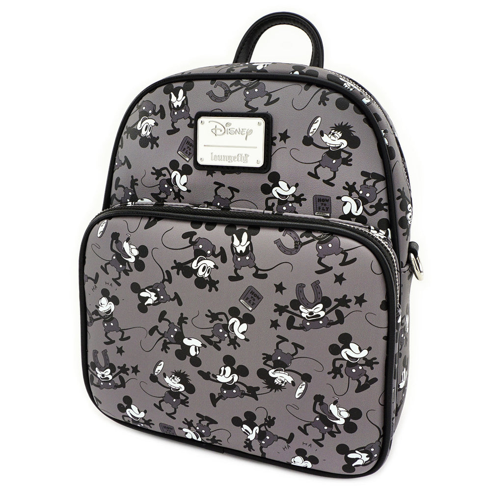 LOUNGEFLY X DISNEY MICKEY MOUSE PLANE CRAZY MINI BACKPACK-zoom