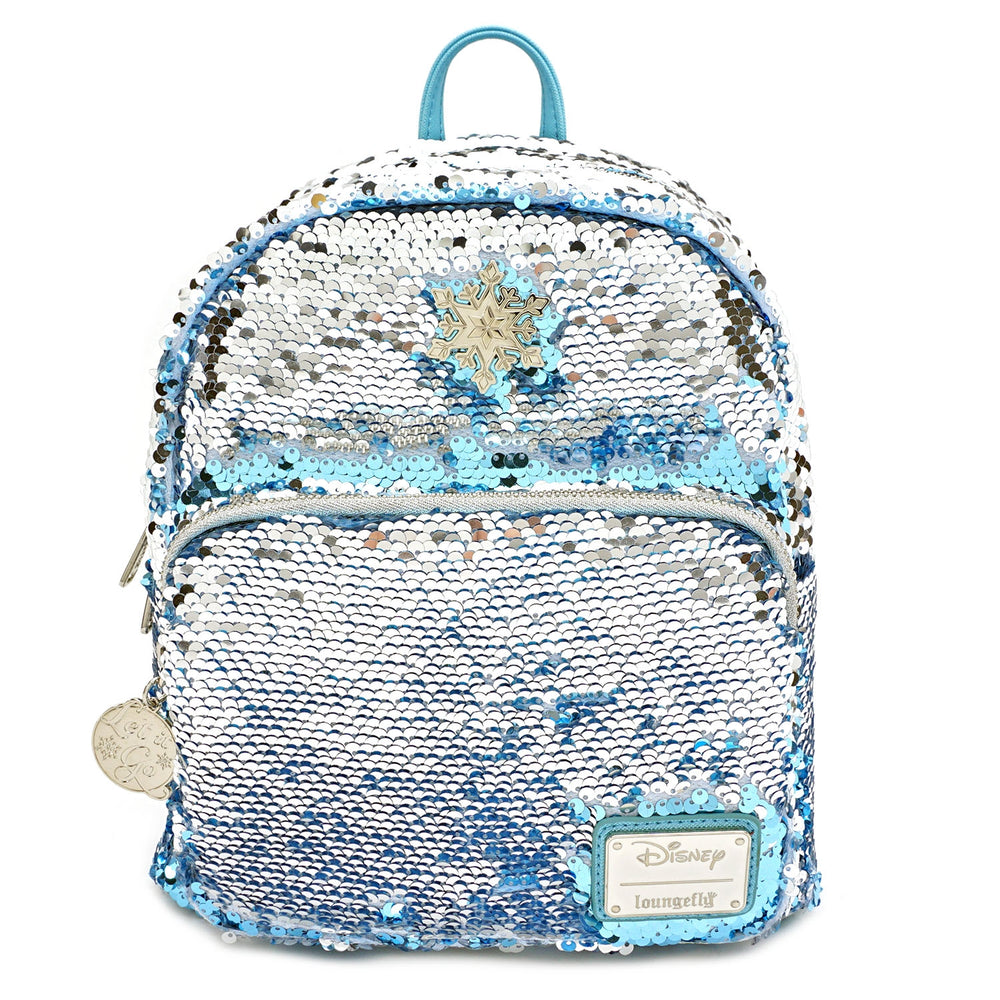 LOUNGEFLY X DISNEY FROZEN ELSA REVERSIBLE SEQUIN MINI BACKPACK-zoom