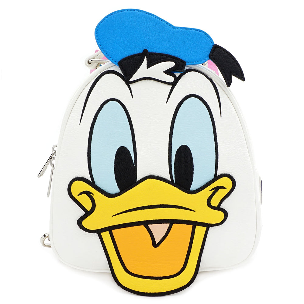 LOUNGEFLY X DISNEY DONALD AND DAISY DOUBLE SIDED MINI BACKPACK-zoom