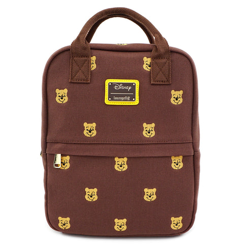 LOUNGEFLY X DISNEY WINNIE THE POOH AOP POOH FACES CANVAS MINI BACKPACK