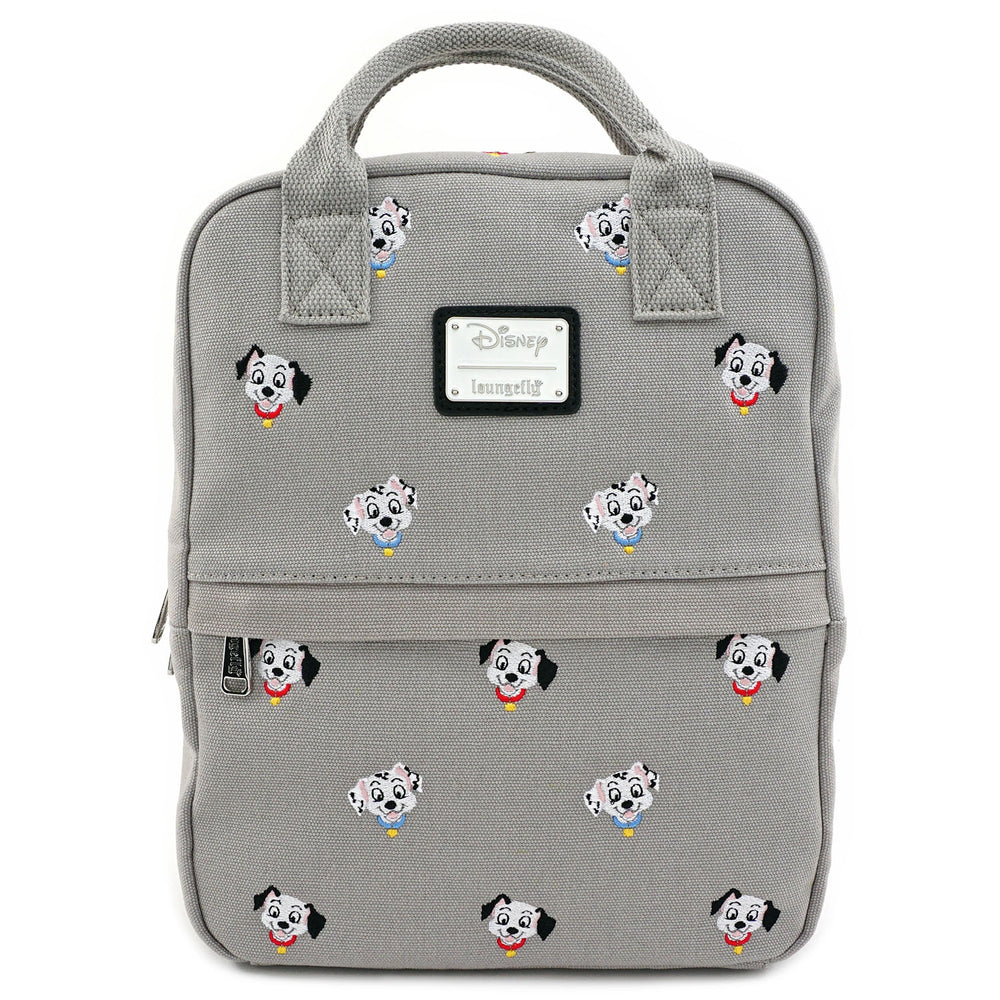 LOUNGEFLY X DISNEY 101 DALMATIANS CANVAS EMBROIDERED MINI BACKPACK-zoom
