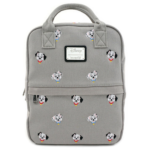 LOUNGEFLY X DISNEY 101 DALMATIANS CANVAS EMBROIDERED MINI BACKPACK