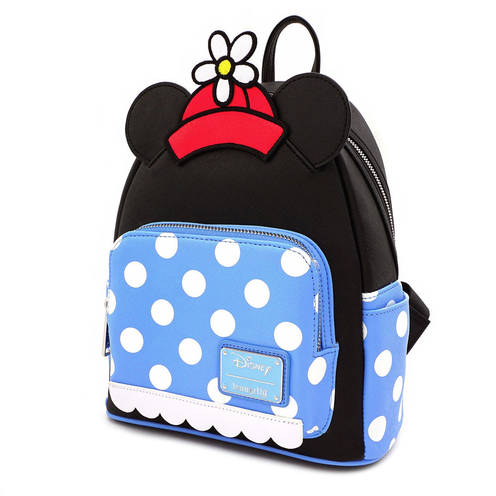 LOUNGEFLY X DISNEY POSITIVELY MINNIE POLKA DOT MINI BACKPACK-zoom