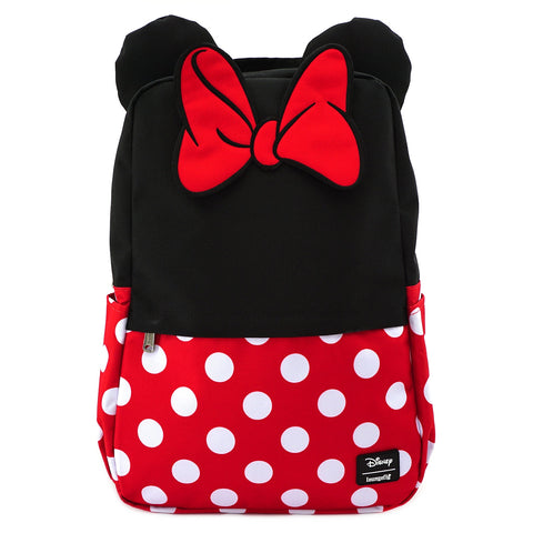 LOUNGEFLY X DISNEY MINNIE MOUSE COSPLAY SQUARE NYLON BACKPACK