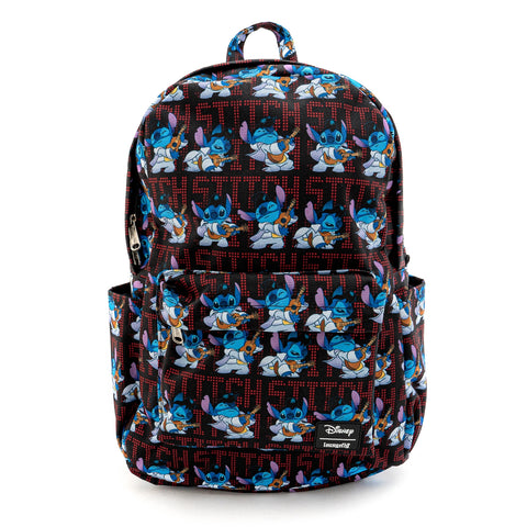 LOUNGEFLY X DISNEY LILO AND STITCH ELVIS STITCH NYLON BACKPACK