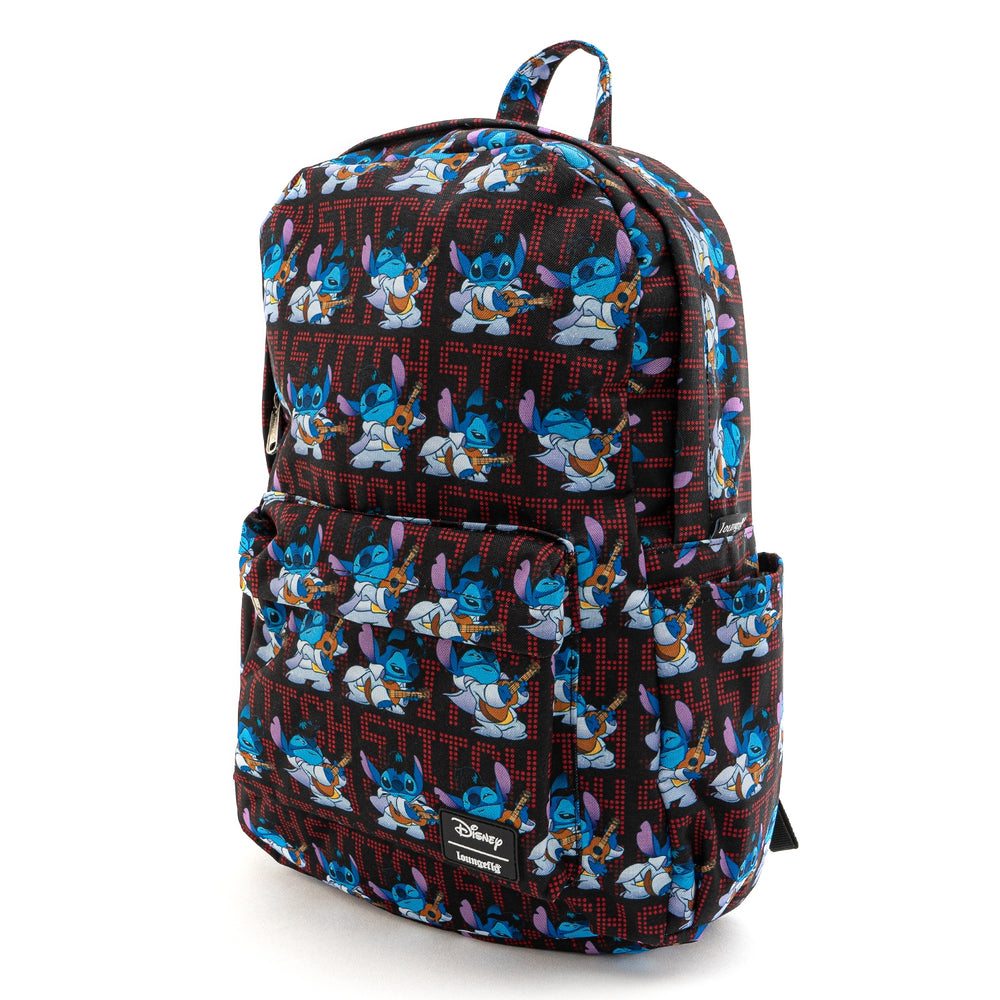 LOUNGEFLY X DISNEY LILO AND STITCH ELVIS STITCH NYLON BACKPACK-zoom