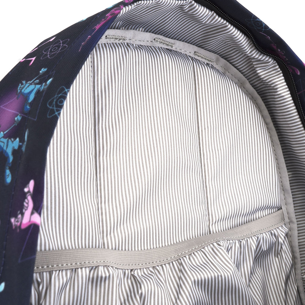 LOUNGEFLY X DISNEY POWERLINE AOP SQUARE BACKPACK-zoom