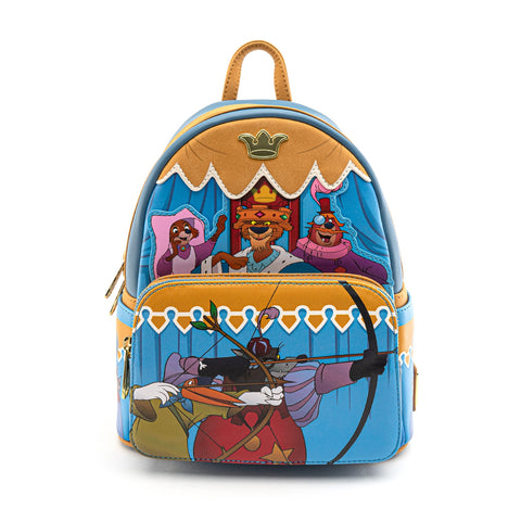 LOUNGEFLY X DISNEY'S ROBIN HOOD ARCHERY TOURNAMENT MINI BACKPACK