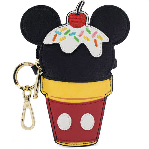 Loungefly x Mickey Ice Cream Cone Coin Bag