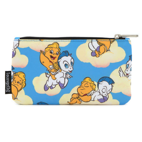 LOUNGEFLY X DISNEY HERCULES BABY HERC AND PEGASUS NYLON POUCH