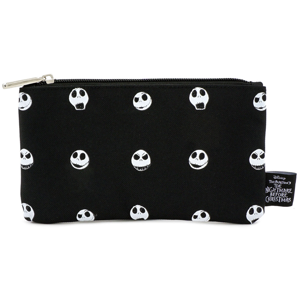 LOUNGEFLY X NIGHTMARE BEFORE CHRISTMAS JACK HEAD AOP NYLON POUCH-zoom