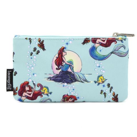 LOUNGEFLY X DISNEY THE LITTLE MERMAID ARIEL NYLON POUCH