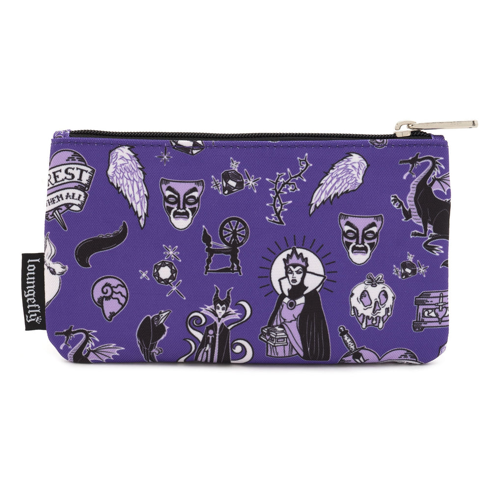 LOUNGEFLY X DISNEY VILLAIN ICON NYLON POUCH-zoom