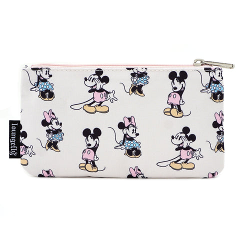 LOUNGEFLY X DISNEY MINNIE MICKEY AOP NYLON POUCH