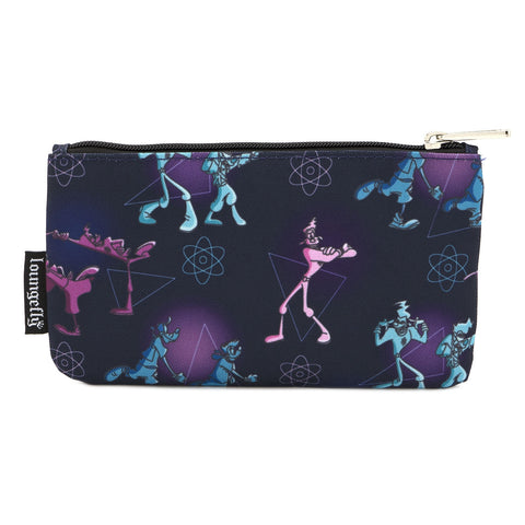 LOUNGEFLY X DISNEY POWERLINE AOP NYLON POUCH
