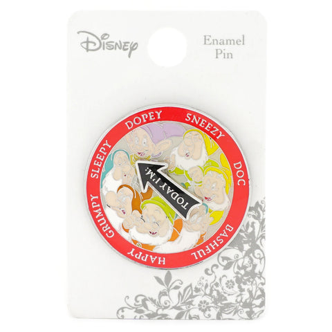 LOUNGEFLY X DISNEY SNOW WHITE AND THE SEVEN DWARFS SPINNER ENAMEL PIN