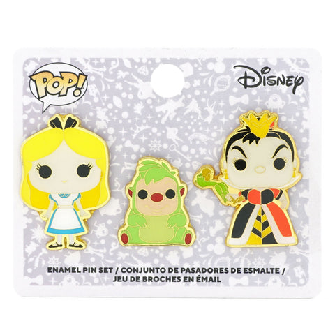 FUNKO POP! X DISNEY ALICE IN WONDERLAND 3PC ENAMEL PIN SET