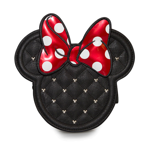 Minnie Mouse Die Cut Quilted Crossbody Chain Bag - Front