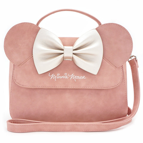 Loungefly x Minnie Ears & Bow Pink Crossbody Bag